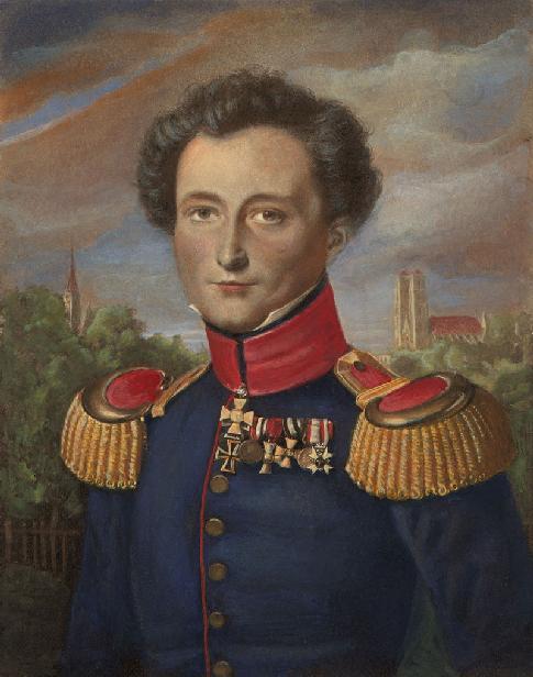 Carl von Clausewitz (1780-1831) por Karl Wilhelm Wach