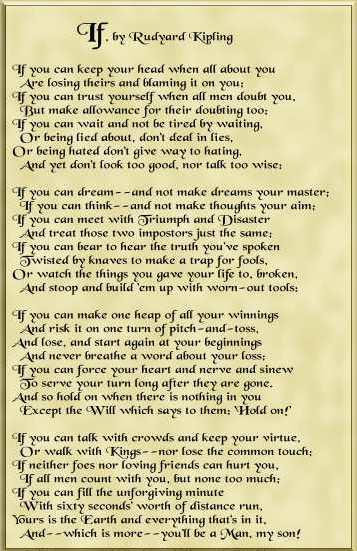 Rudyard Kipling (1865-1936), If (1895)
