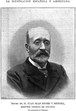Juan Blas Sitges y Grifoll, La Ilustración Española y Americana, Madrid 22 de marzo de 1899