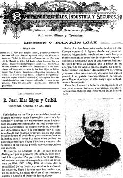Juan Blas Sitges y Grifoll, Revista ilustrada de Banca, Ferrocarriles, Industria y Seguros, Madrid 10 de abril de 1899
